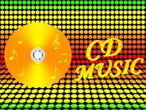 CD的例证音乐 图库摄影