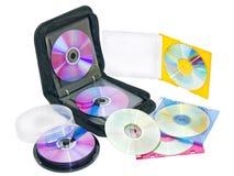 CD的光盘dvd钱包 免版税库存图片