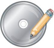 CD的图标写道 库存照片