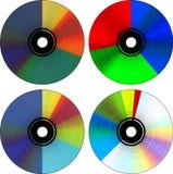 CD的圆形图 库存照片