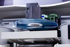 CD的复印机dvd办公室 免版税库存图片
