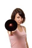 CD的女孩藏品 免版税库存图片