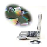 CD的媒体 库存图片