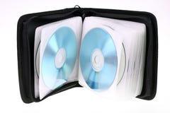 CD的手提箱 免版税库存照片