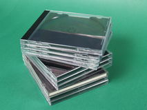 CD的持有人 库存照片
