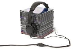 CD的收集耳机 图库摄影