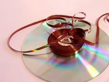 CD的新的老磁带 免版税库存图片