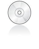 CD的格式图标向量 免版税库存图片