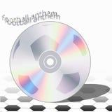 CD的橄榄球专题歌 免版税库存照片