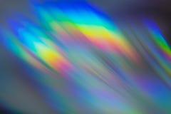 CD的特写镜头五颜六色的反射 免版税库存图片