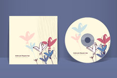 CD的盖子设计模板 免版税库存图片