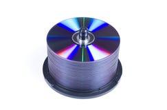 CD的盘堆 免版税库存图片
