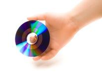 CD的盘现有量人s 库存照片
