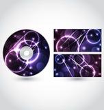 CD的盘装箱设计模板 免版税库存照片