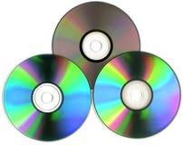 CD的盘dvd 免版税库存照片