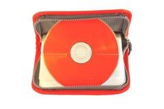 CD的红色 库存照片