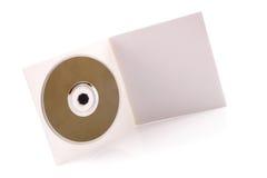CD的纸板盒 免版税库存照片