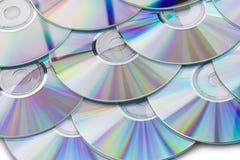 CD的背景 免版税库存照片