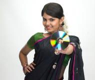 CD的藏品印地安人妇女 免版税库存图片