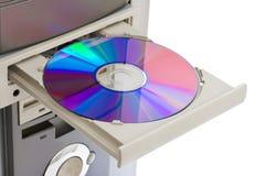 CD的计算机rom 免版税库存图片
