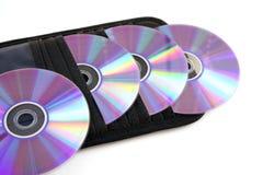 CD的钱包 免版税库存照片