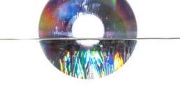 CD的水中 库存图片