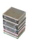 CD的dvd塔 免版税库存照片