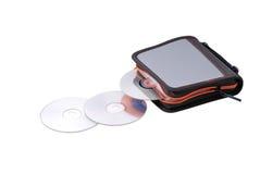 CD的dvd存贮 免版税库存图片