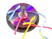 CD的dvd礼品 库存图片