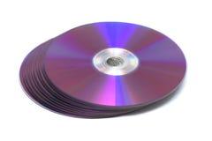 CD的dvd roms栈 库存图片