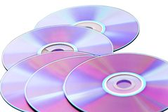 CD的dvd vcd 库存照片