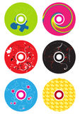 CD ζωηρόχρωμα απεικόνιση αποθεμάτων