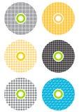 CD ζωηρόχρωμα διανυσματική απεικόνιση