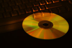 CD και πληκτρολόγιο στοκ εικόνες