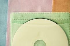 CD στην τσάντα χρώματος Στοκ Εικόνες