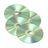 CD τέσσερα που απομονώνοντ&a στοκ φωτογραφίες