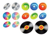 cd винил показателей дисков Стоковое Фото
