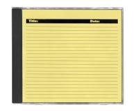 cd желтый цвет крышки Стоковая Фотография