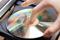 cd игрок вставки Стоковые Фото