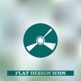 cd икона Конструкция паутины Стоковые Фото