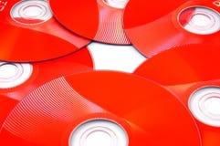 cd красный цвет dvd Стоковые Фотографии RF