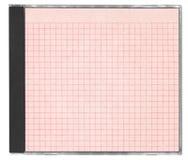 cd приданный квадратную форму красный цвет бумаги крышки Стоковое фото RF