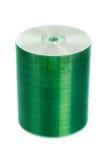 cd стог изолированный диском стоковое изображение