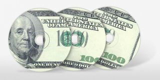 cd доллар 100 3 Стоковое Изображение RF