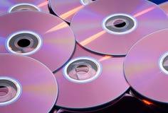 CD. A Lot Of CD On Closeup Stock Photos