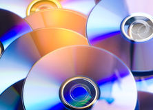 CD. A Lot Of CD On Closeup Royalty Free Stock Image