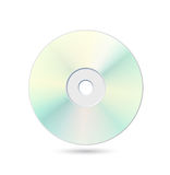 Cd. Light blue shiny cd on white background with shadow Royalty Free Stock Photos