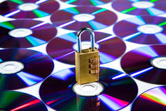 Cd. The disk protected by a code Royalty Free Stock Photos