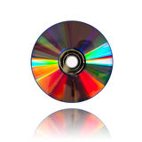 Cd. Blank CD or DVD on white background