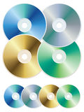 CD. Vector illustration of blank colorful compact discs Stock Photography